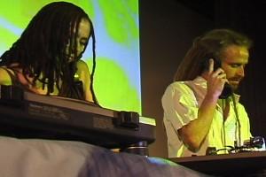 The Angel & DJ Drez performing together