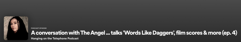 The Angel Interview - Hanging On The Telephone Podcast