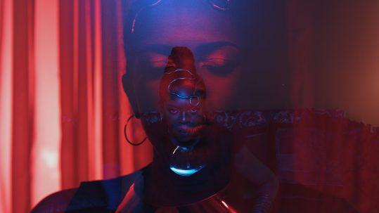 """Jhelisa still from """"Words Like Daggers"""" video"""